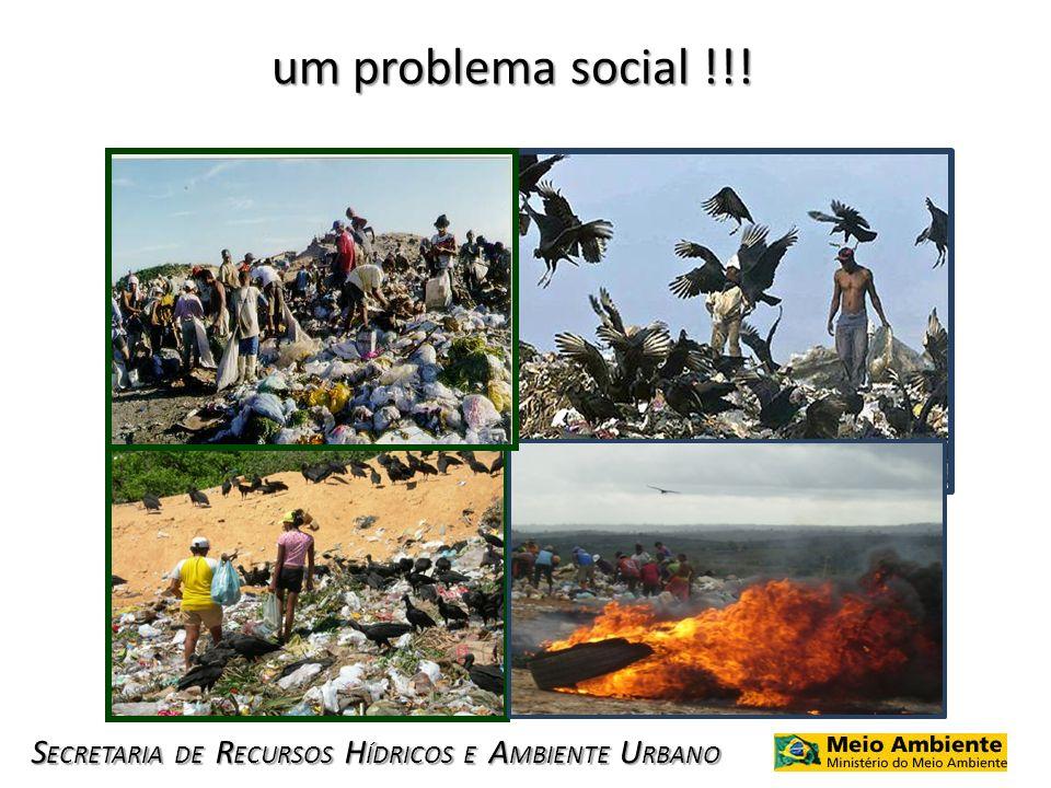 S ECRETARIA DE R ECURSOS H ÍDRICOS E A MBIENTE U RBANO um problema social !!!