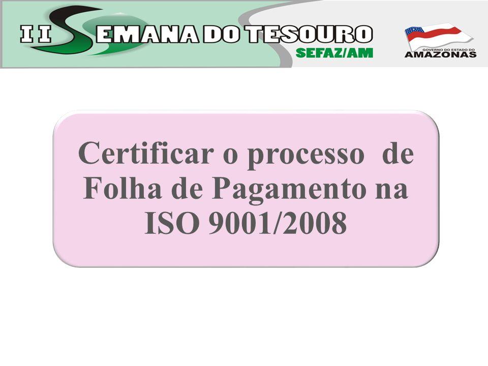Certificar o processo de Folha de Pagamento na ISO 9001/2008