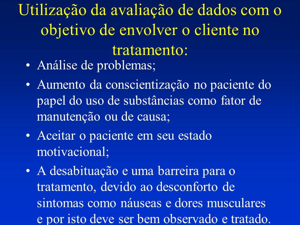 Utilização da avaliação de dados com o objetivo de envolver o cliente no tratamento: Análise de problemas; Aumento da conscientização no paciente do p