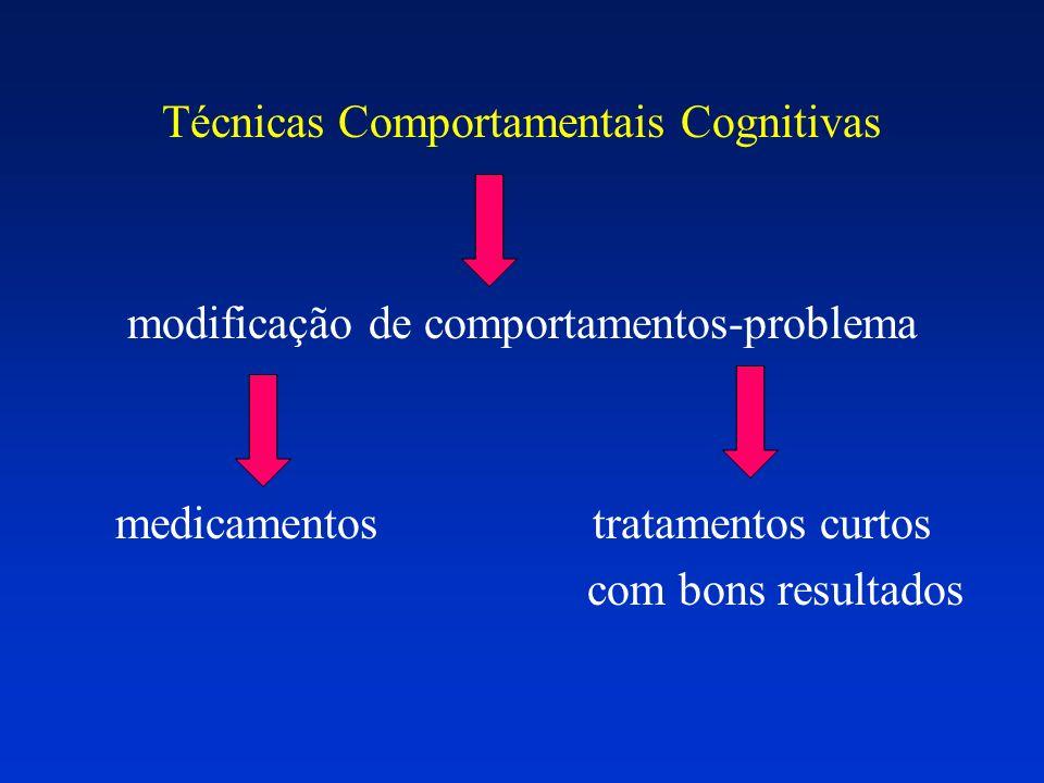 Técnicas Comportamentais Cognitivas modificação de comportamentos-problema medicamentos tratamentos curtos com bons resultados