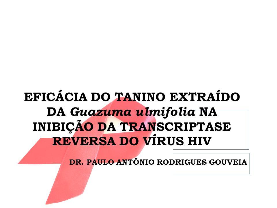 EFICÁCIA DO TANINO EXTRAÍDO DA Guazuma ulmifolia NA INIBIÇÃO DA TRANSCRIPTASE REVERSA DO VÍRUS HIV DR. PAULO ANTÔNIO RODRIGUES GOUVEIA