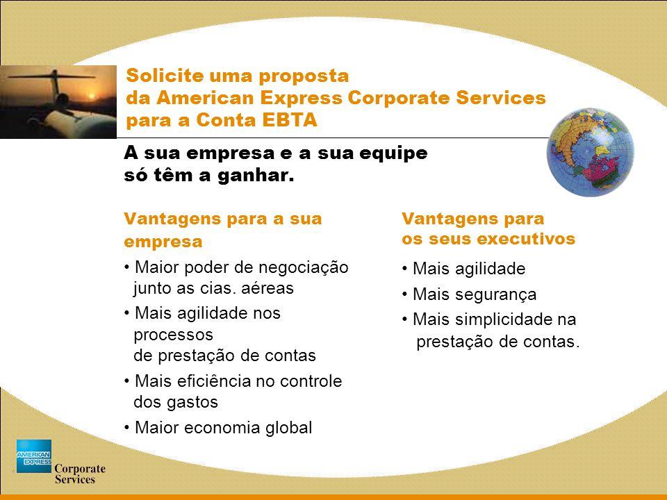 Assistência Emergencial em Viagens Em parceria com a Inter Partner Assistance, a American Express irá garantir, gratuitamente, segurança e apoio total