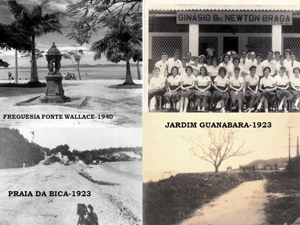 FREGUESIA FONTE WALLACE-1940 GALEÃO PRAIA DA BICA-1923 JARDIM GUANABARA-1923