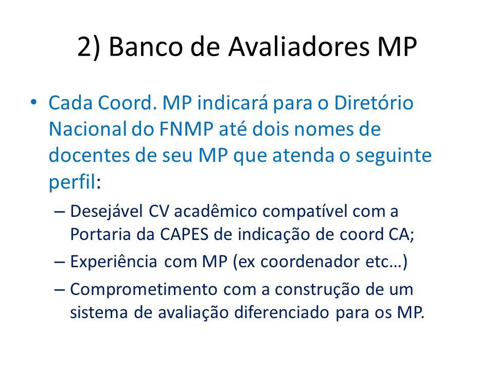 2) Banco de Avaliadores MP Cada Coord.