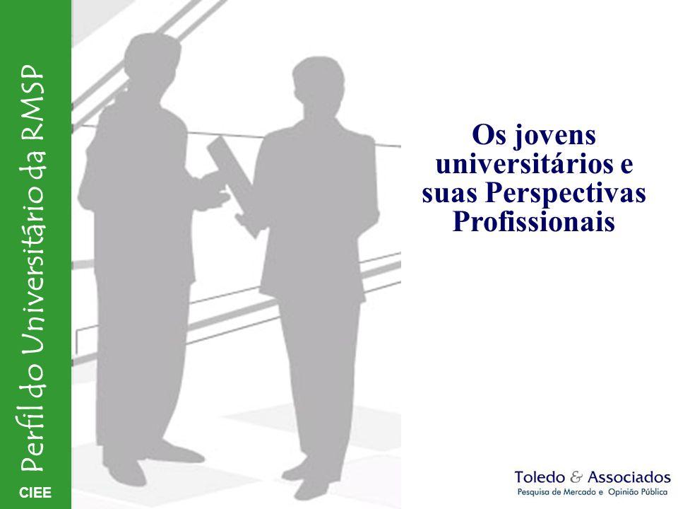 CIEE Perfil do Universitário da RMSP Os jovens universitários e suas Perspectivas Profissionais
