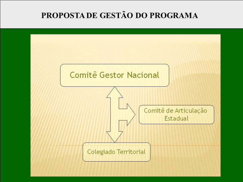 PROPOSTA DE GESTÃO DO PROGRAMA