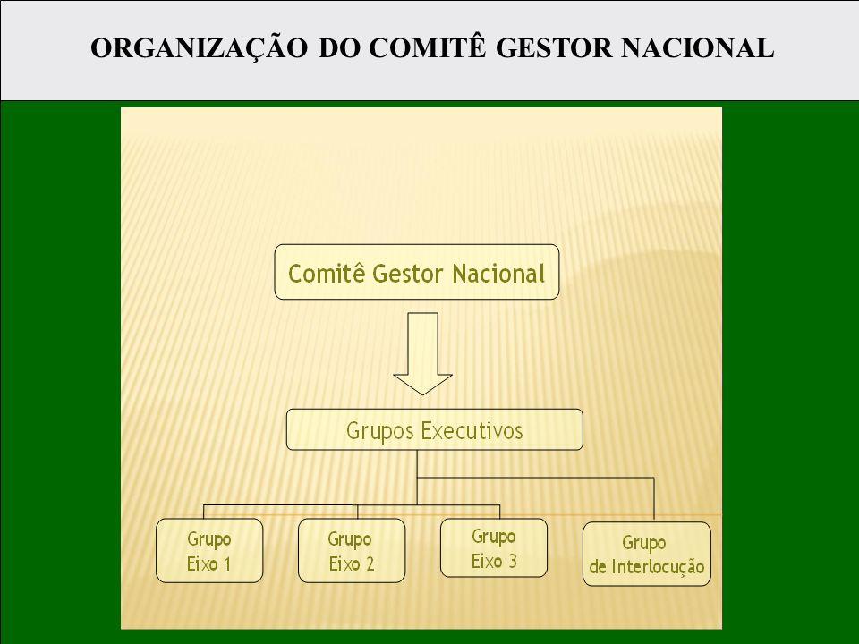 ORGANIZAÇÃO DO COMITÊ GESTOR NACIONAL