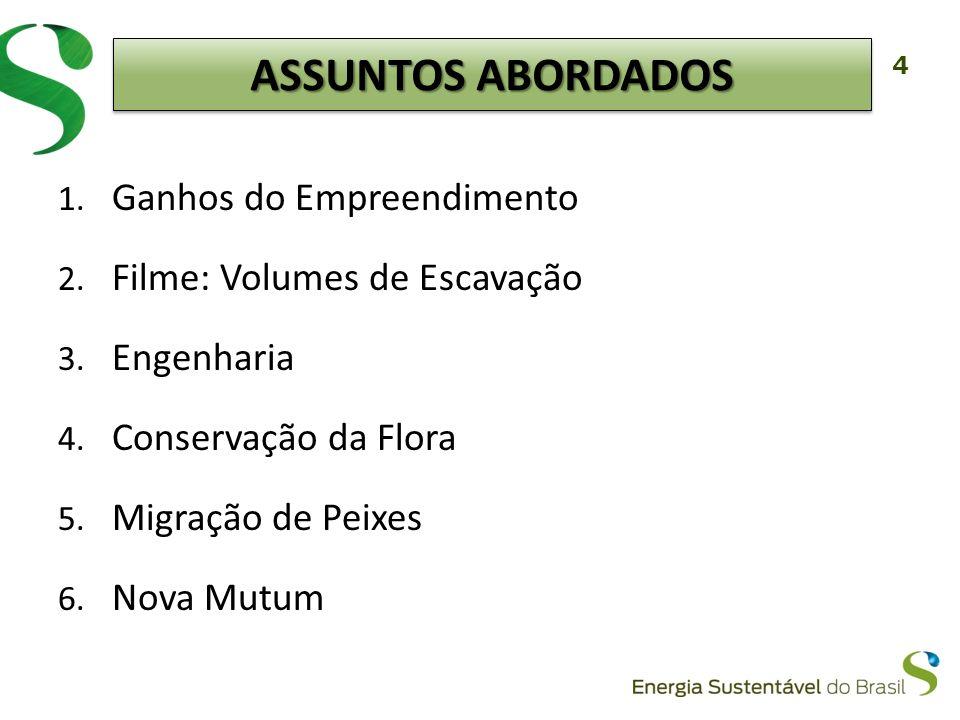 5 Economia do Projeto da ESBR: Preço Teto do Leilão: R$ 91,00 / MW méd Preço da ESBR: R$ 71,37 / MW méd A redução do custo do projeto da ESBR foi repassada ao consumidor.