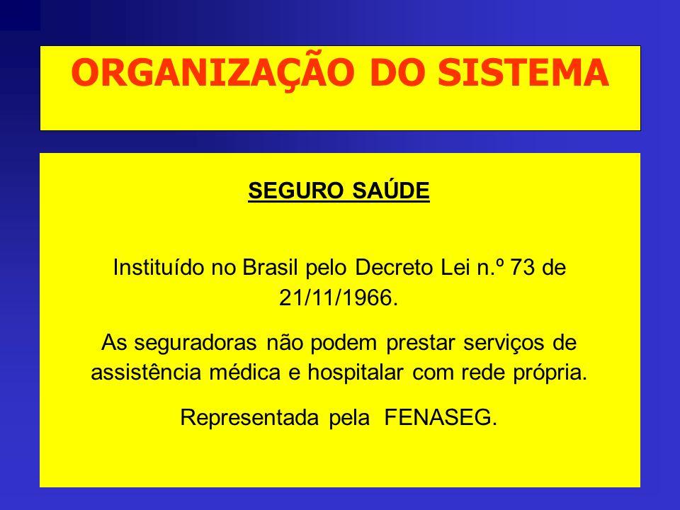 SEGURO SAÚDE Instituído no Brasil pelo Decreto Lei n.º 73 de 21/11/1966.
