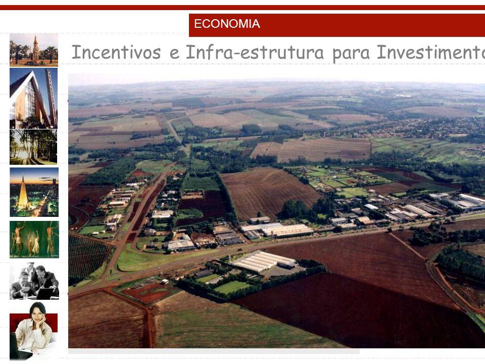 ECONOMIA Incentivos e Infra-estrutura para Investimentos