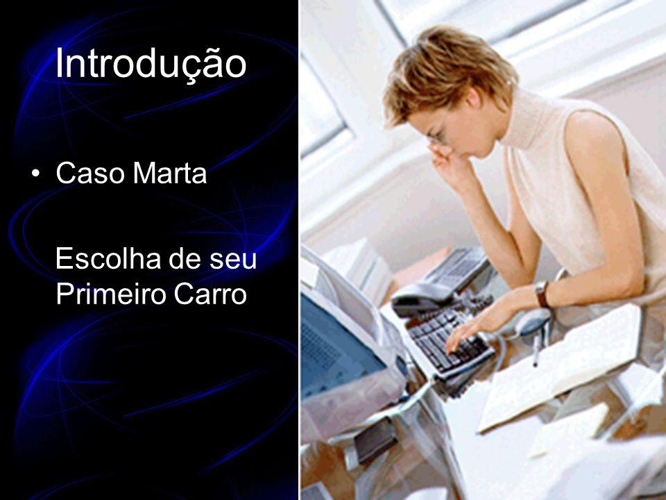 Introdução Caso Marta Escolha de seu Primeiro Carro