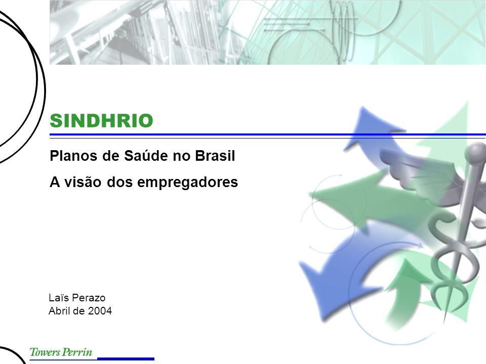 SINDHRIO Planos de Saúde no Brasil A visão dos empregadores Laïs Perazo Abril de 2004