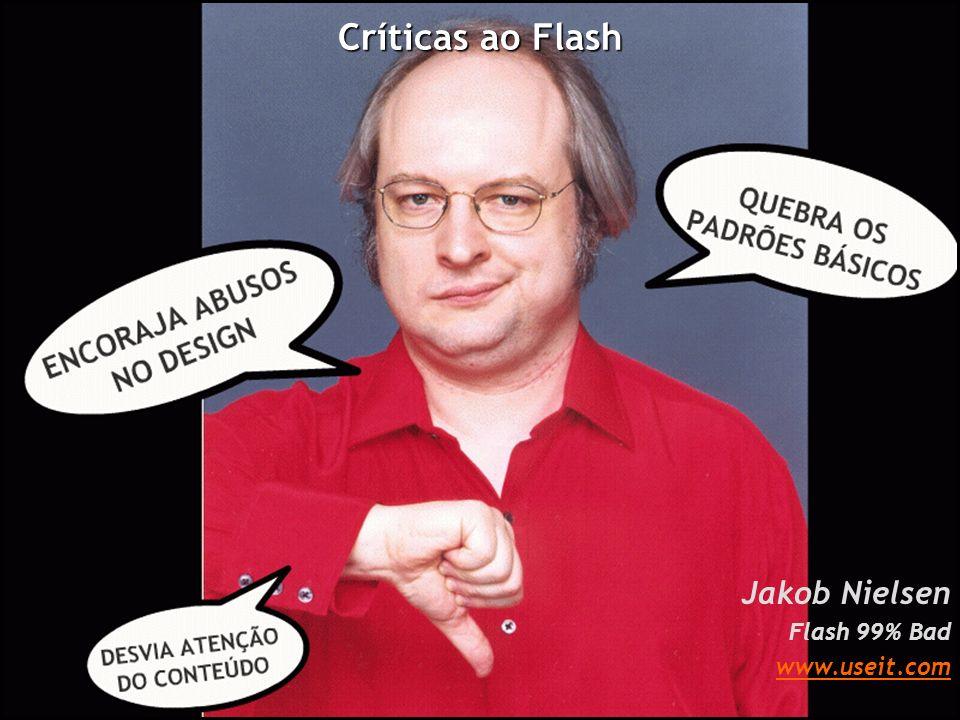 Elogios ao Flash Jakob Nielsen Flash OK www.useit.com