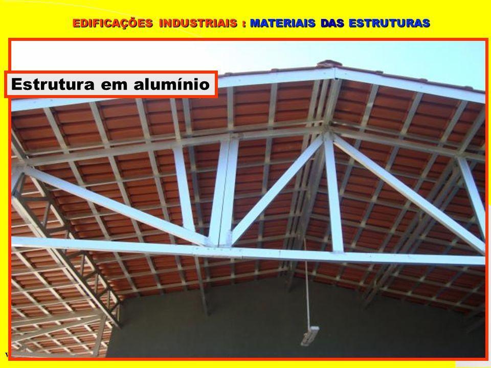 Grupo de Estudos da Logística em Pernambuco www.marciliocunha.com.br Estrutura em alumínio EDIFICAÇÕES INDUSTRIAIS : MATERIAIS DAS ESTRUTURAS EDIFICAÇ