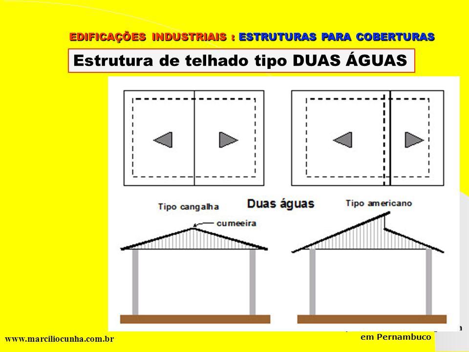 Grupo de Estudos da Logística em Pernambuco www.marciliocunha.com.br EDIFICAÇÕES INDUSTRIAIS : ESTRUTURAS PARA COBERTURAS EDIFICAÇÕES INDUSTRIAIS : ES
