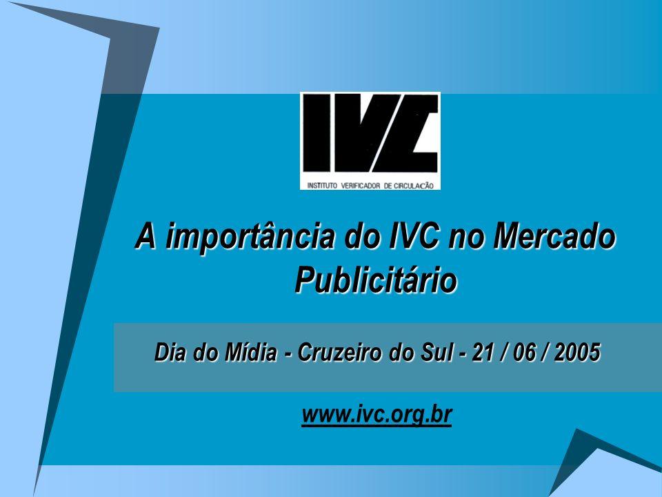 A importância do IVC no Mercado Publicitário Dia do Mídia - Cruzeiro do Sul - 21 / 06 / 2005 Dia do Mídia - Cruzeiro do Sul - 21 / 06 / 2005 www.ivc.org.br