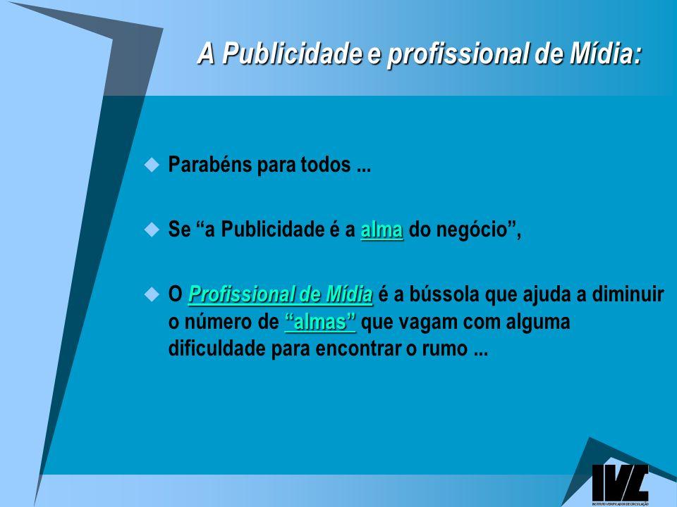 A Publicidade e profissional de Mídia: A Publicidade e profissional de Mídia: Parabéns para todos...