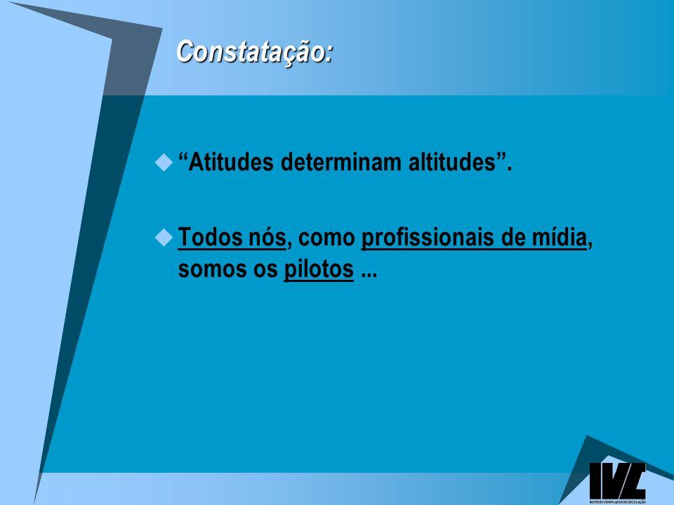 Constatação: Atitudes determinam altitudes.