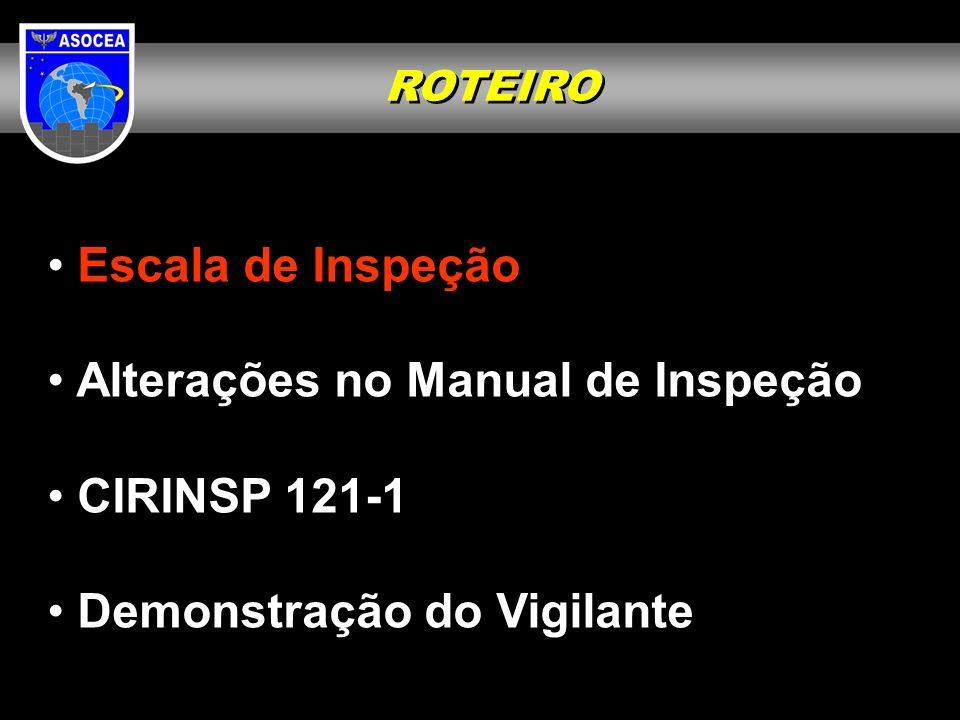 Reinspeções Cada INSPCEA deverá verificar o estágio do cumprimento das Ações Corretivas da área sob sua responsabilidade, de acordo com o estabelecido na CIRINSP 121-1 Avaliação de Ação Corretiva.