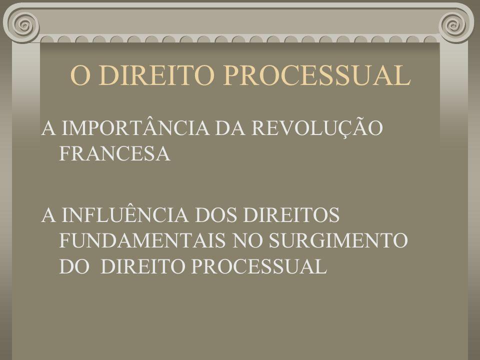 O DIREITO PROCESSUAL A IMPORTÂNCIA DA REVOLUÇÃO FRANCESA A INFLUÊNCIA DOS DIREITOS FUNDAMENTAIS NO SURGIMENTO DO DIREITO PROCESSUAL