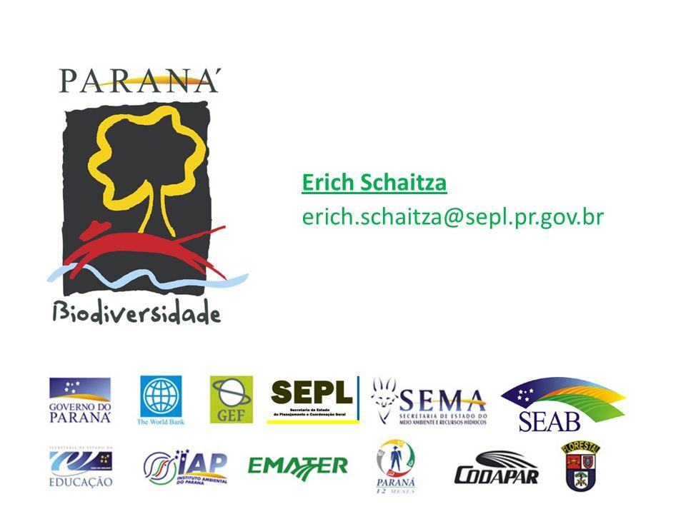 Erich Schaitza Secretário Executivo pgaim@seab.pr.gov.br pgaim@seab.pr.gov.br