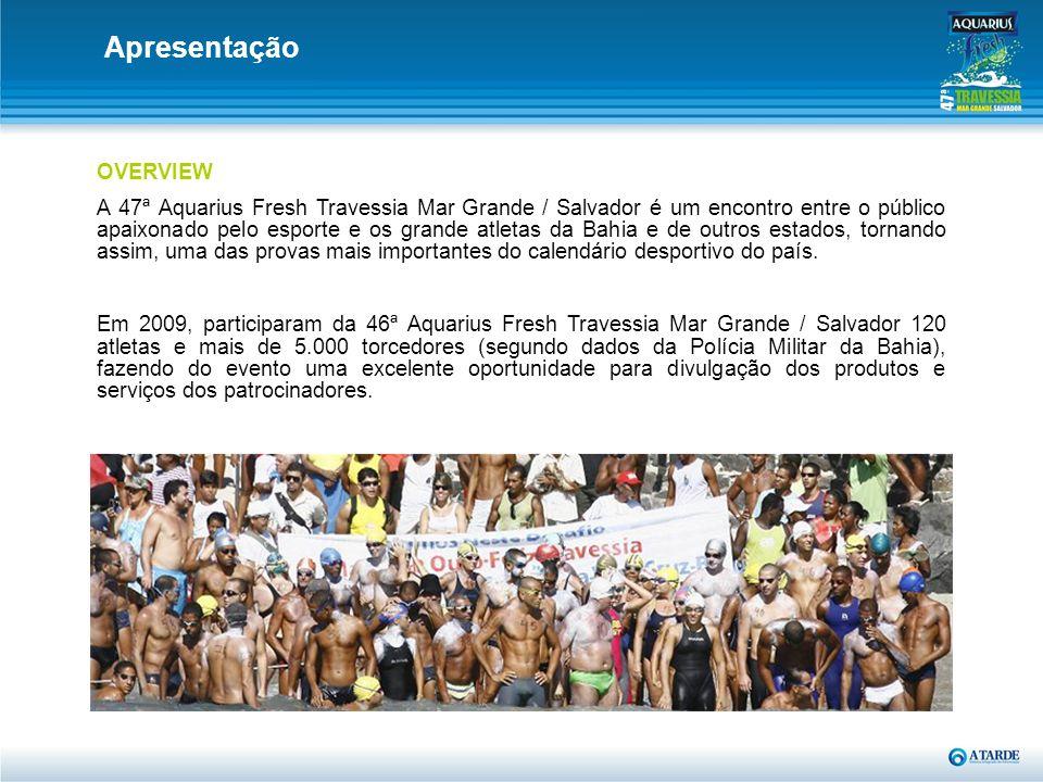 OVERVIEW A 47ª Aquarius Fresh Travessia Mar Grande / Salvador é um encontro entre o público apaixonado pelo esporte e os grande atletas da Bahia e de
