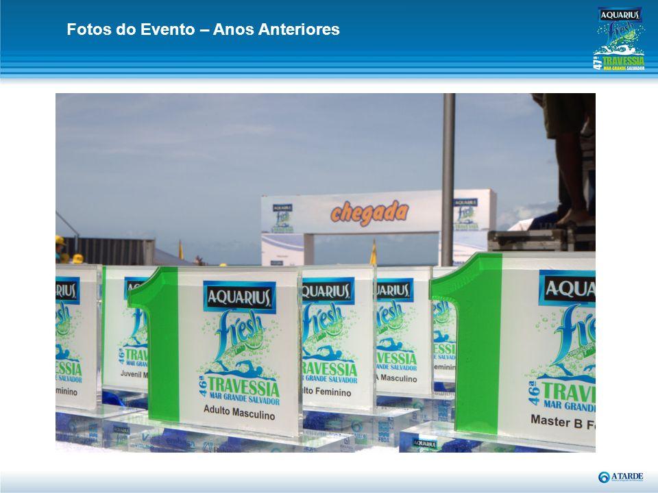 O Patrocinador da 47ª Aquarius Frash Travessia Mar Grande / Salvador, terá direito a: 5 pares de convite de acesso ao camarote Relacionamento