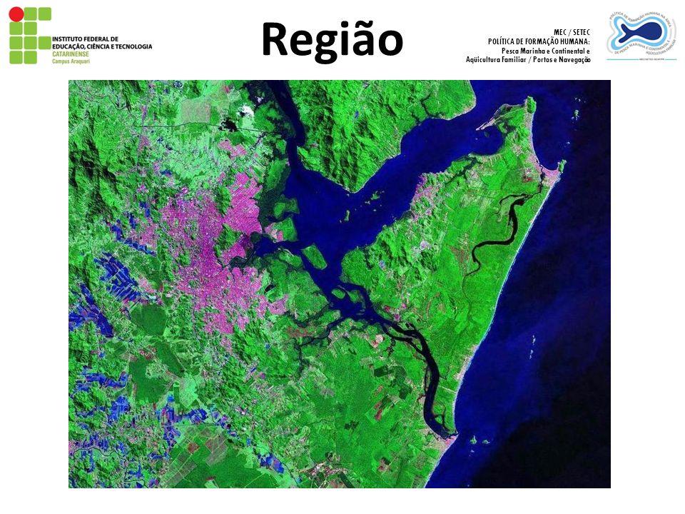 Região MEC / SETEC POLÍTICA DE FORMAÇÃO HUMANA: Pesca Marinha e Continental e Aqüicultura Familiar / Portos e Navegação
