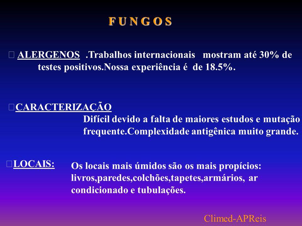 A REAÇÃO ALÉRGICA IgE Alérgeno Mediadores Pré-formados e Neoformados Mastócitos e Basófilos Receptor Fc Histamina Leucotrienes Prostaglandinas APReis