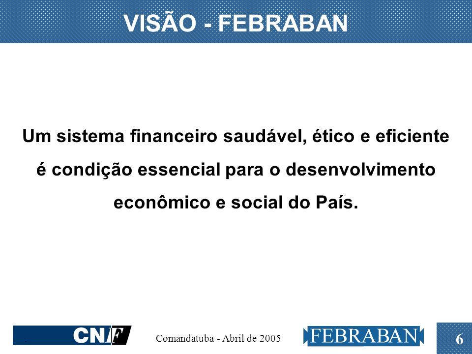 . Comandatuba - Abril de 2005 6 Um sistema financeiro saudável, ético e eficiente é condição essencial para o desenvolvimento econômico e social do Pa