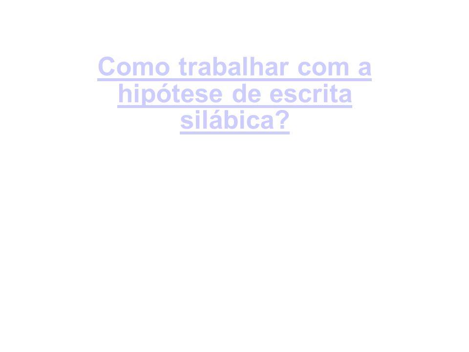 Como trabalhar com a hipótese de escrita silábica