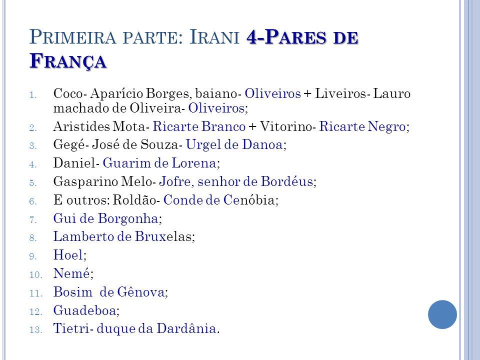 5- P.30 P RIMEIRA PARTE : I RANI 5- P.
