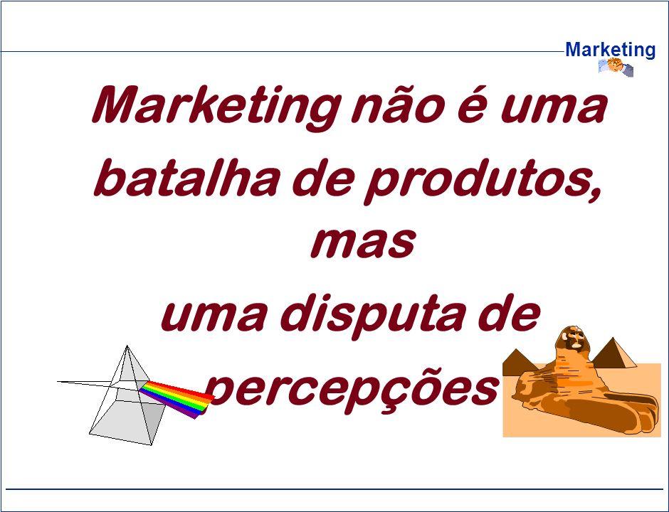 Marketing Marketing não é uma batalha de produtos, mas uma disputa de percepções