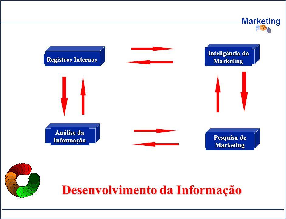 Marketing Desenvolvimento da Informação Registros Internos Inteligência de Marketing Análise da Informação Pesquisa de Marketing