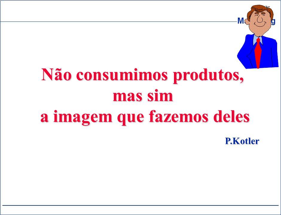 Marketing Não consumimos produtos, mas sim a imagem que fazemos deles a imagem que fazemos deles P.Kotler
