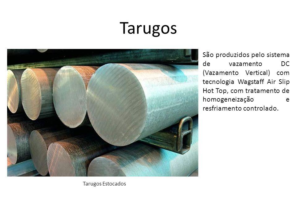 Tarugos Os tarugos CBA apresentam acabamento superficial liso, isento de óxidos e gases e estrutura metalúrgica refinada o que confere ao tarugo qualidade superior ao processo convencional.