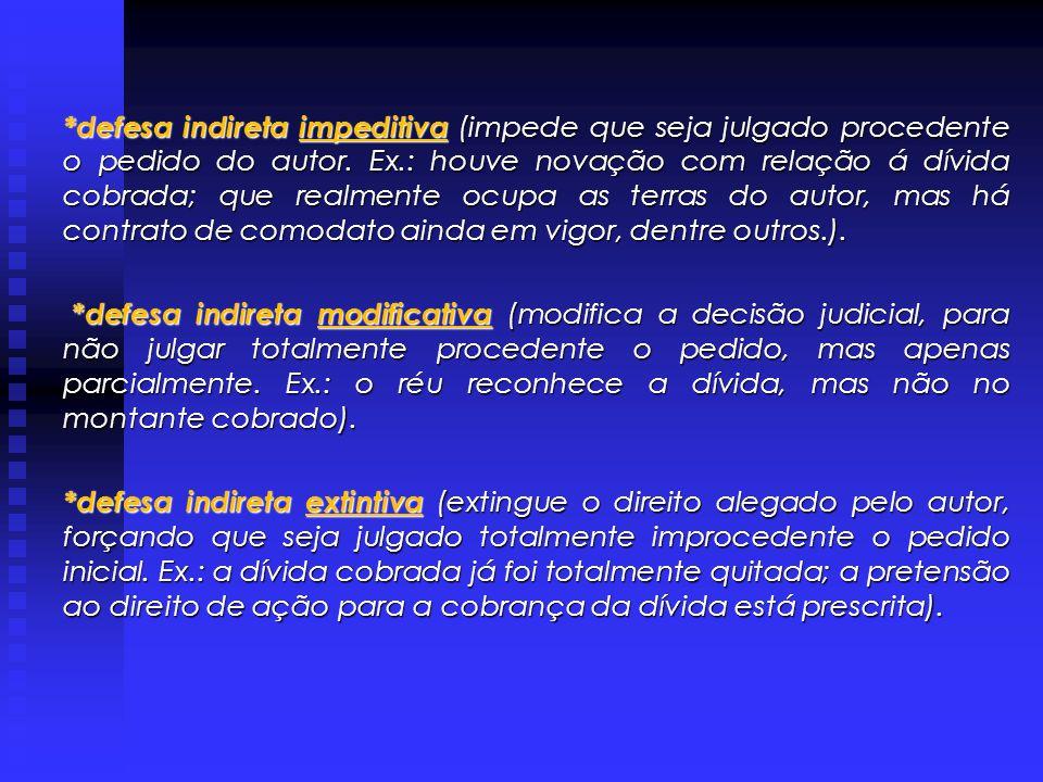 MÉRITO : Após a defesa processual que visa a extinção do processo sem julgamento do mérito, o réu deve iniciar a defesa de mérito, procurando obter se