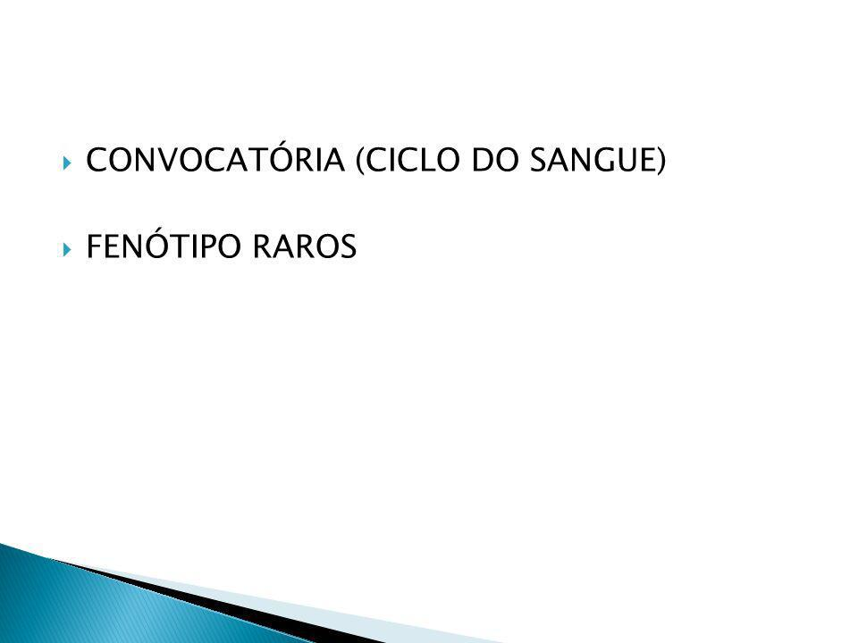 CONVOCATÓRIA (CICLO DO SANGUE) FENÓTIPO RAROS