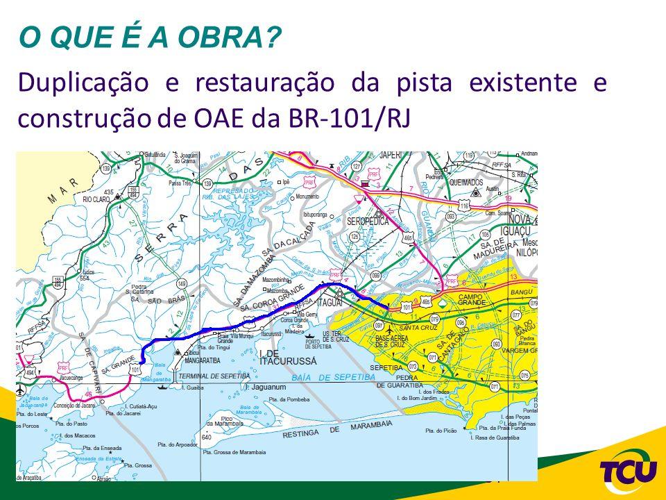 51 O QUE É A OBRA? Duplicação e restauração da pista existente e construção de OAE da BR-101/RJ