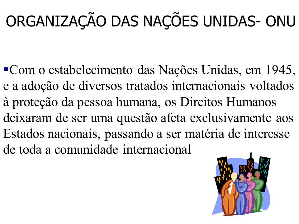§Declaração Universal de Direitos Humanos §Uma Corte para os Direitos Humanos §Código de Conduta para os Funcionários Responsáveis pela Aplicação da L