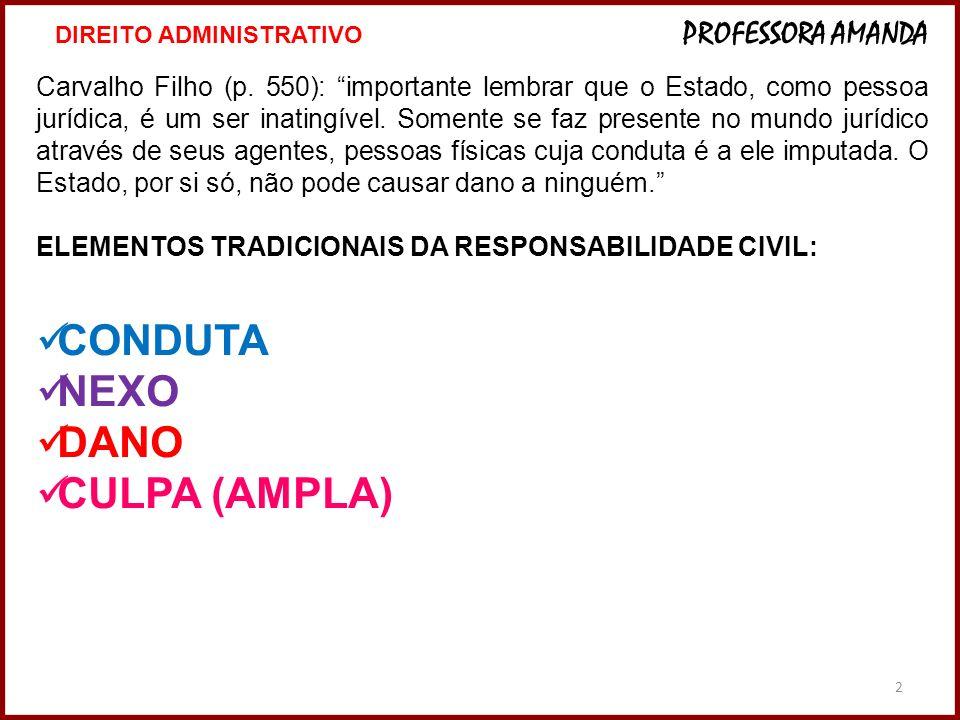 2 Carvalho Filho (p. 550): importante lembrar que o Estado, como pessoa jurídica, é um ser inatingível. Somente se faz presente no mundo jurídico atra