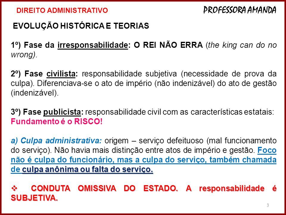 4º e b) Risco administrativo: o Estado responde OBJETIVAMENTE.