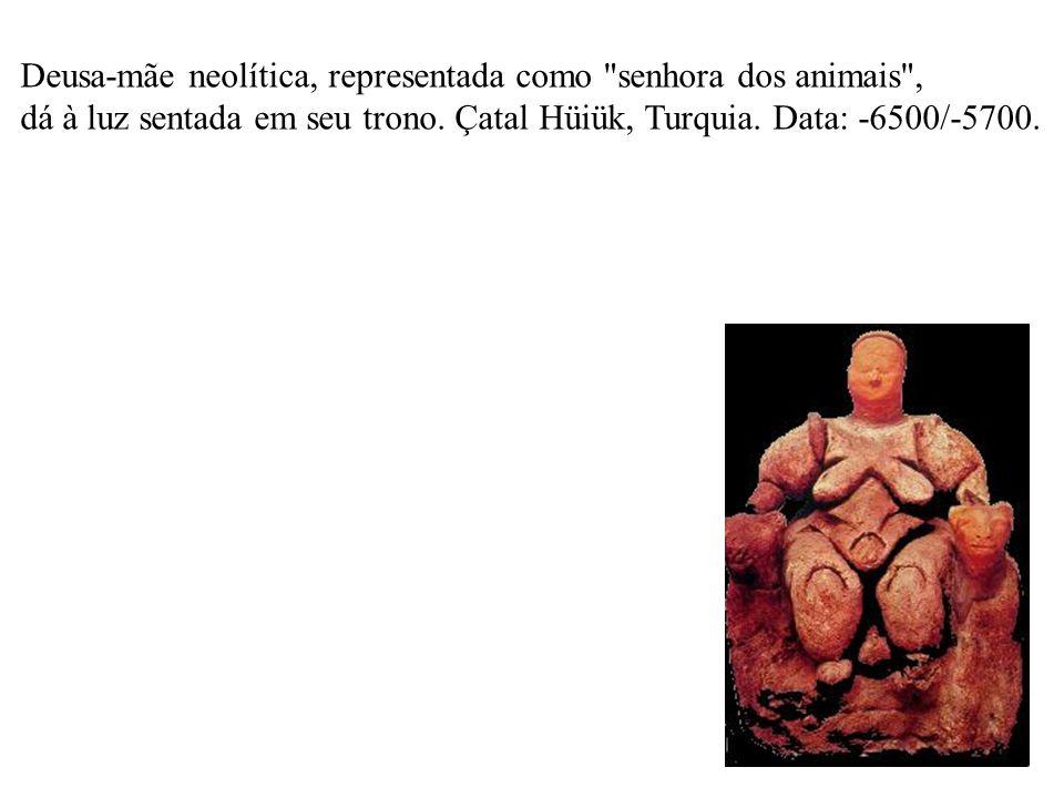 Deusa-mãe neolítica, representada como