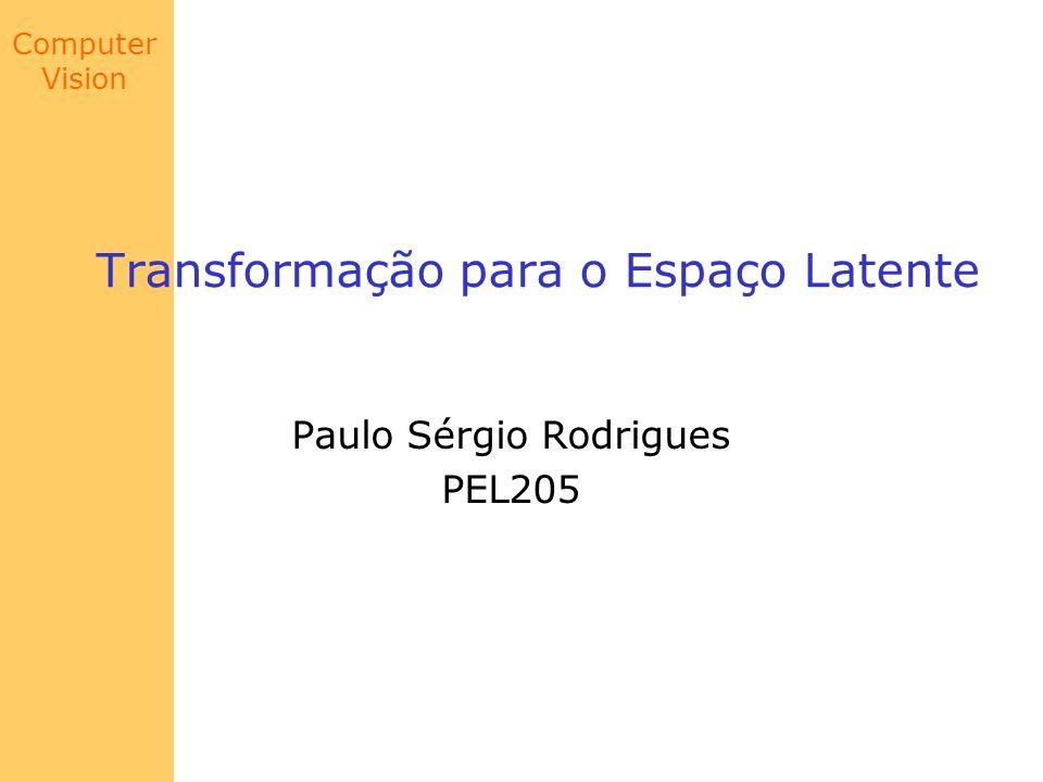 Computer Vision Transformação para o Espaço Latente Paulo Sérgio Rodrigues PEL205