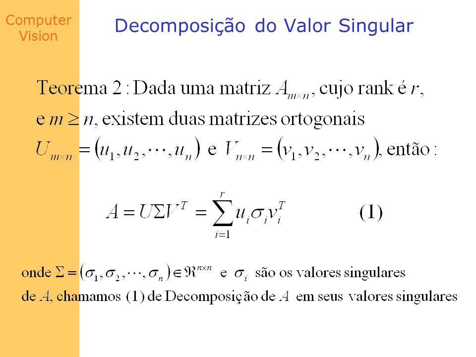 Computer Vision Decomposição do Valor Singular