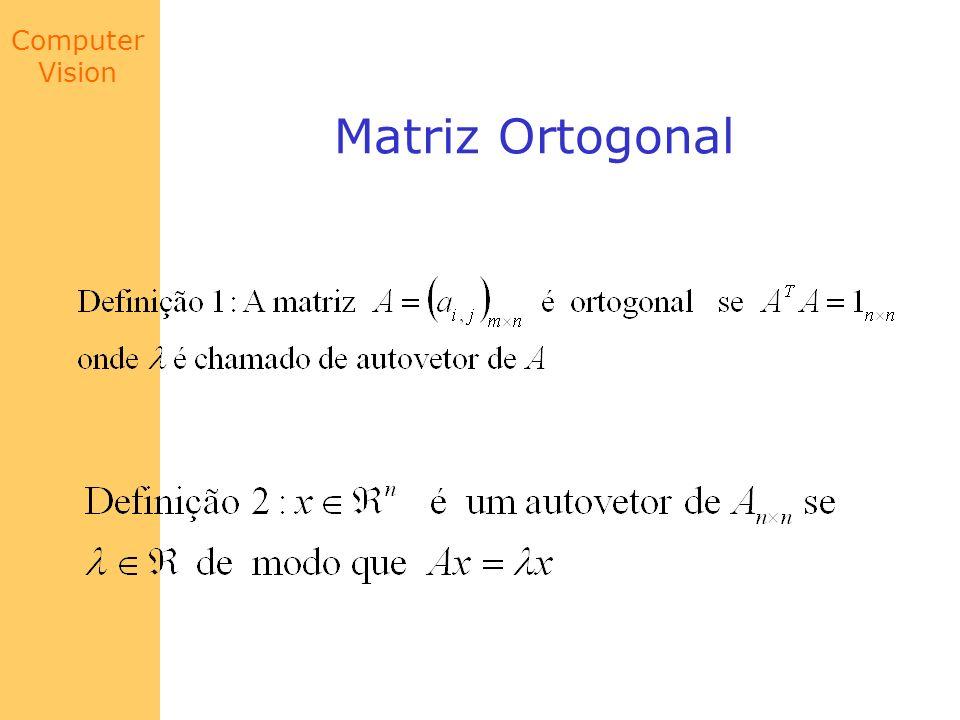 Computer Vision Matriz Ortogonal