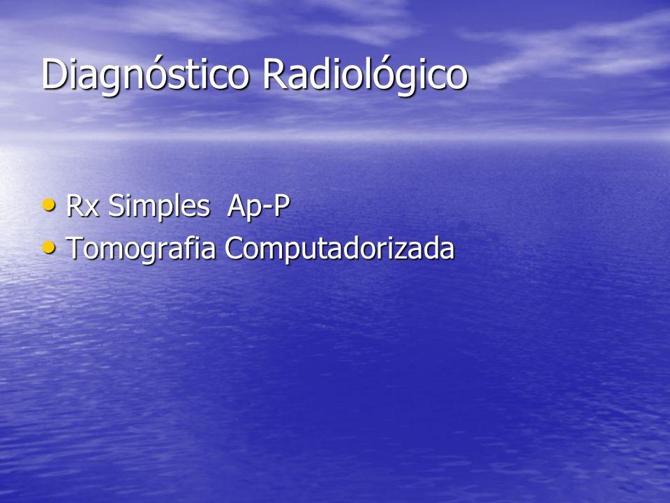 Diagnóstico Radiológico Rx Simples Ap-P Rx Simples Ap-P Tomografia Computadorizada Tomografia Computadorizada