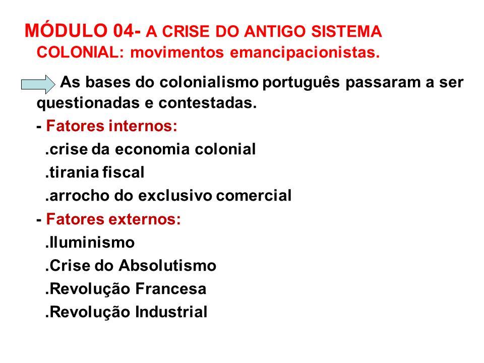 A.1) A INCONFIDÊNCIA OU CONJURAÇÃO MINEIRA(1789) MOVIMENTO das elites econômicas e intelectuais de MG PROJETOS elitistas privilegiando MG: - República com capital em São J.