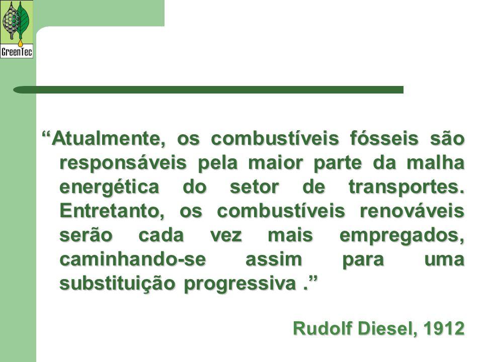 Atualmente, os combustíveis fósseis são responsáveis pela maior parte da malha energética do setor de transportes. Entretanto, os combustíveis renováv
