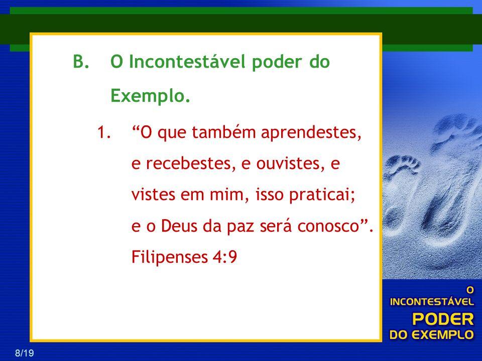 9/19 2.Paulo nos exorta a sair da contemplação para a prática vivencial.